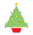 A Very Merry Christmas vector image vector image