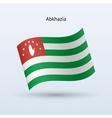 Abkhazia flag waving form vector image vector image