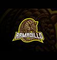 armadillo mascot sport logo design vector image vector image