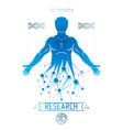 athletic man made using futuristic molecular vector image vector image