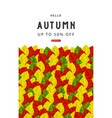 autumn sale banner template with colorful vector image