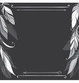 background with hand drawn feathers on vector image