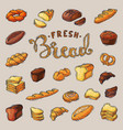 bakery breadstuff baking bread loaf or vector image