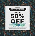 Banner Black Friday made of different floral vector image vector image