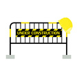 Barrier under construction vector image vector image