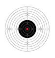 blank arrow target blank gun target paper shootin vector image vector image