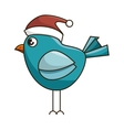 blue bird with red hat vector image