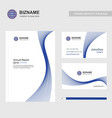 business brochure with logo design and also with vector image