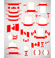Canadian flag decoration elements vector image