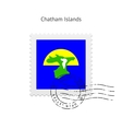 Chatham Islands Flag Postage Stamp vector image vector image