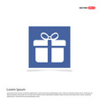 christmas gift box icon - blue photo frame vector image