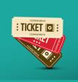 cinema tickets paper movie ticket symbol vector image vector image