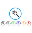 debugger explorer rounded icon vector image vector image