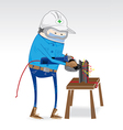 Dress for work grinding steel industry vector image