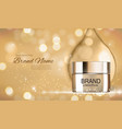 face cream bottle tube template for ads or vector image vector image