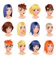 Fashion female avatars vector image