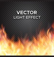 fire flames on transparent background vector image vector image