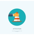 flat attention cone vector image vector image