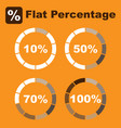 flat percentage icon pack image vector image