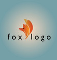 fox logo on background vector image vector image