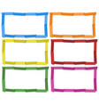 frame template in six colors vector image vector image