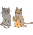 funny cats family eps 10 vector image vector image