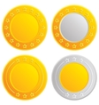Gold and silver coins Cash with stars template vector image