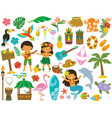 hawaii tropical clipart vector image