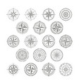 icon set with compass rose for your design vector image vector image