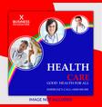 instagram post or social media banner for health vector image vector image