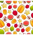 juicy bright tropical exotic fruits pattern vector image vector image