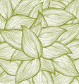 leafs background vector image vector image