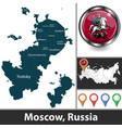 map moscow russia vector image