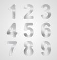 Metal Number Set vector image vector image