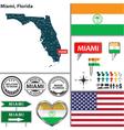 Miami Florida set vector image vector image