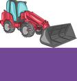 mini bulldozer a vector image vector image