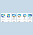 mobile app onboarding screens online computer vector image vector image