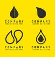 oil company logo icon yellow black drop shape vector image vector image
