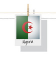 photo of algeria flag vector image