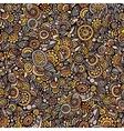 seamless autumn doodle floral pattern