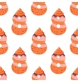 Seamless pattern with cartoon cookies of number vector image vector image