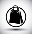 Shopping bag simple single color icon vector image vector image