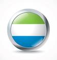 Sierra Leone flag button vector image vector image