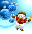 snowman with christmas balls vector image vector image
