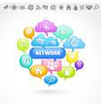 Social network vector image