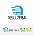 speed file logo design vector image