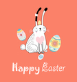 stok vektor long eared rabbit vector image