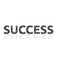 Success made of failures vector image