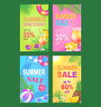 summer discount reduction set vector image vector image