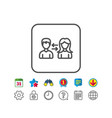 teamwork line icon profile avatar sign vector image vector image